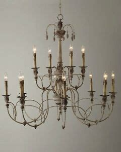 Horchow Chandelier by Horchow 12 Light Aidan Gray Look Vintage Beaded