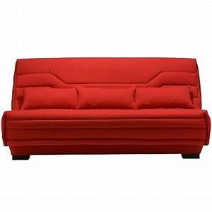 clic clac rouge matelas bultex 14 cm bianca lestendancesfr With tapis rouge avec canapé avec matelas bultex
