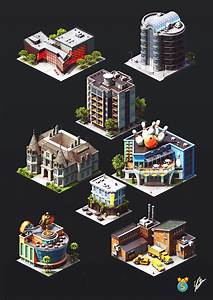 Isometric Game Graphics  City Island 4 On Behance