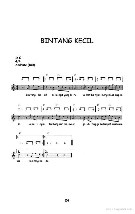 not angka lagu laskar pelangi nidji pianika not angka lagu anak anak bintang kecil