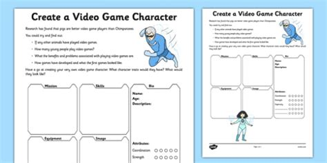 design a character worksheet create a character worksheet worksheet design
