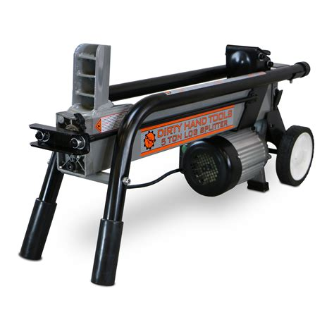 ton electric horizontal log splitter dirty hand tools