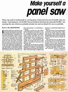 DIY Vertical Panel Saw • WoodArchivist