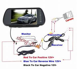 2019 7 Lcd Monitor Wireless Reverse Camera Car Rear View