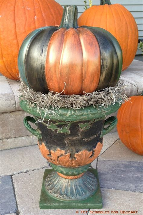 fall pumpkin decorations outside fall decor antiqued outdoor pumpkin urn pet scribbles