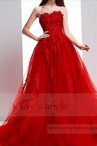 Robe Rouge Mariage Invité : robe habill e bustier pour mariage rouge ref p071 robes de bal ~ Farleysfitness.com Idées de Décoration