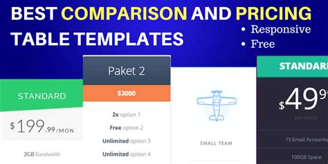 comparison table template html 16 awesome comparison and pricing table templates to check