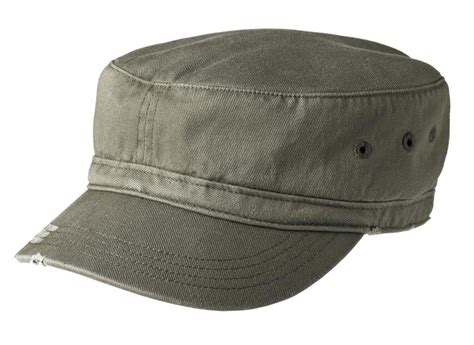 district embroidered distressed military hat hats