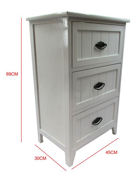 Small Storage Cupboards by New White Gloss Wooden Small 3 Drawer Bedside Table