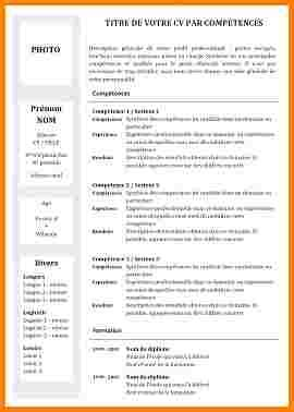 competence cuisine collective 11 cv competence exemple modele lettre