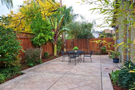 small backyard patio good looking sted concrete cost trend san francisco