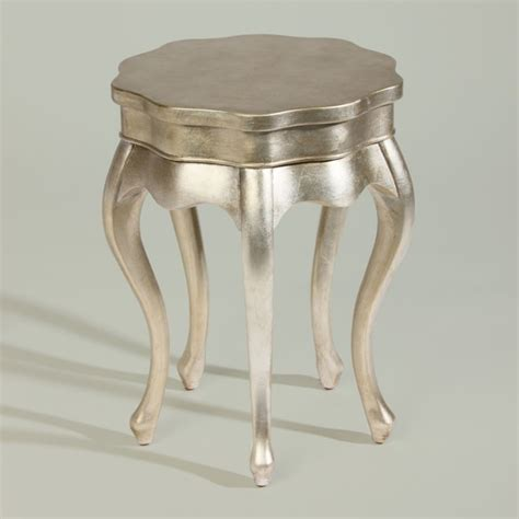 silver leaf accent table silver leaf five leg table traditional side tables and