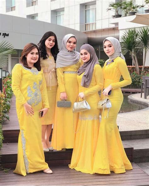 model kebaya bridesmaid polos kuning model kebaya modern