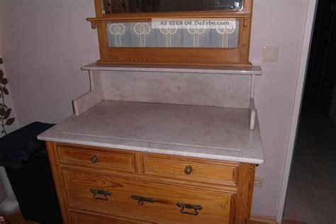 antike wasch kommode mit spiegel und marmorplatte ca 1890 echte handarbeit