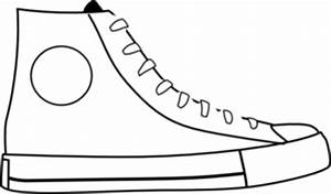 white shoe clip art at clkercom vector clip art online With pete the cat shoe template