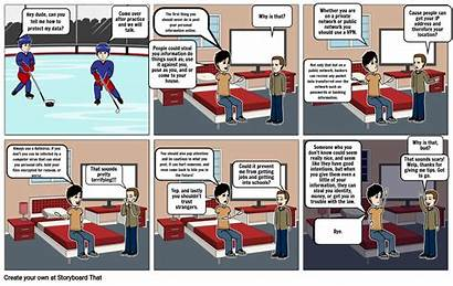 Cartoon Cyber Security Storyboard Remote Learning Slide
