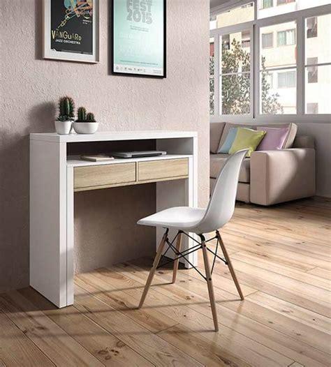 bureau console design bureau console blanc brillant hetre