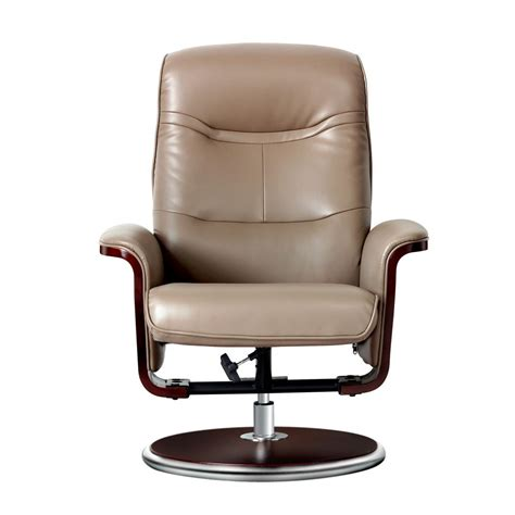 Leather Swivel Recliners by Mac Motion Oslo Collection Merlot Top Grain Leather Swivel