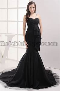 She Made Me Size Chart Black Sweetheart Mermaid Formal Dress Evening Prom Gown