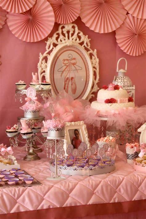 karas party ideas pink ballerina birthday party  kara