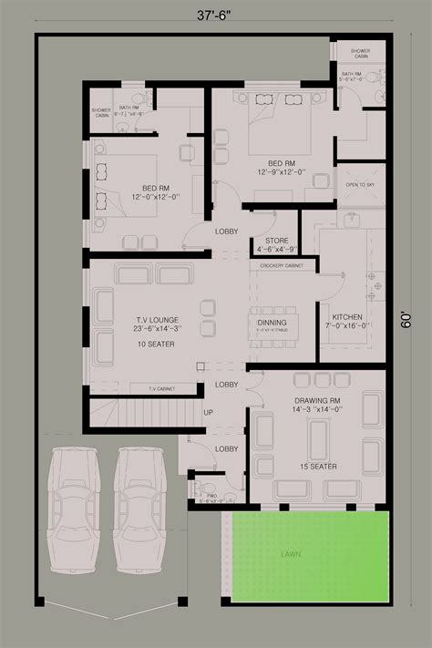 marla house plan   design estate home plans