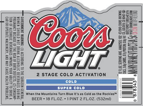 coors light introduces  stage cold activation beerpulse