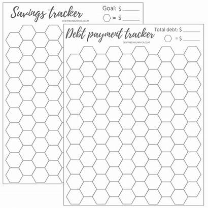 Debt Tracker Savings Payment Honeycomb Sunny Printable