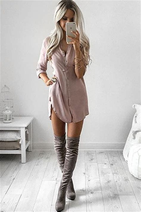 Boots Outfit and High boots on Pinterest
