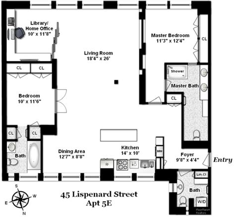 floor plans nyc 45 lispenard st 5e co op apartment sale in tribeca manhattan streeteasy