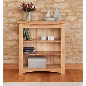 Modern, Light, Solid, Oak, Small, Low, Bookcase, Shelf, Display, Shelf, Unit