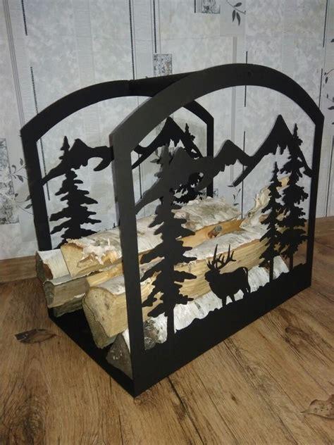 firewood storage rack log holder firewood stand laser plasma cut template dxf file