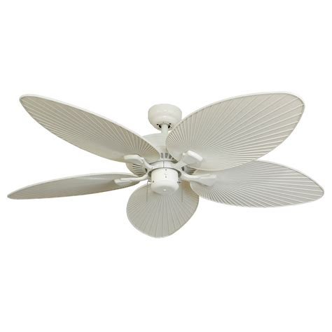 lowes flush mount white ceiling fans shop palm coast tavernier 52 in white outdoor downrod or