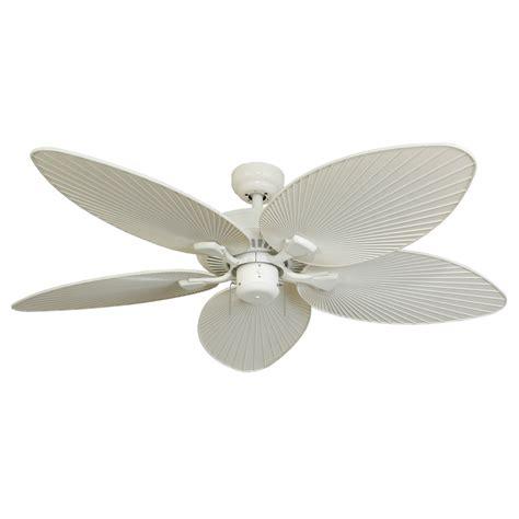 white flush mount ceiling fan shop palm coast tavernier 52 in white outdoor downrod or