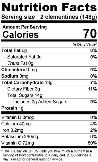 Halo Mandarin Oranges Nutrition Facts Besto Blog