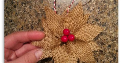 burlap poinsettia christmas ornaments hometalk