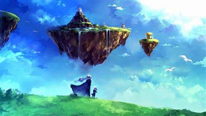 Floating Island Fantasy Chrono Trigger Sky Anime