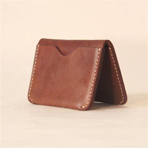 Leather Card Holder Handmade handmade leather card minimal leather wallet