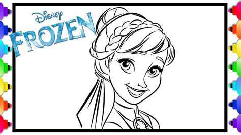 learn   draw princess anna frozen  frozen