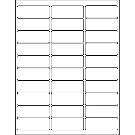 Avery Template 18660 by Avery 174 Processing Labels Clear Inkjet 1 Quot X 2 5 8