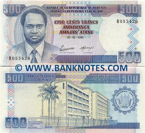 Banknotes.com - Burundi 500 Francs 1995 - Burundi Bank ...