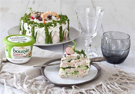 recette avec du boursin cuisine ou sandwich cake au boursin cuisine pour mon
