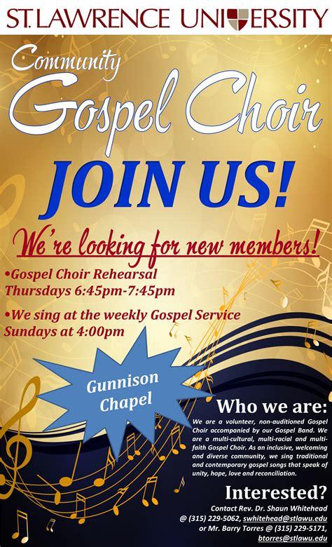 slu community gospel choir st lawrence university
