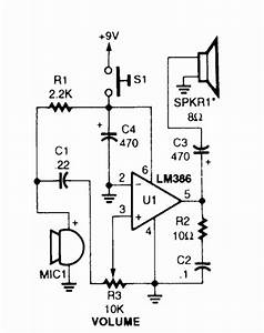 simple megaphone circuit diagram electronic circuits With 7809 pin and circuit diagram