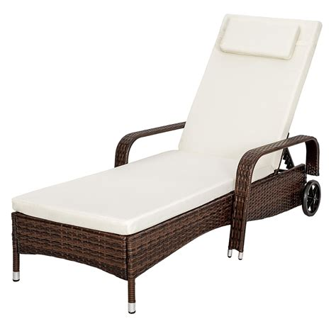 chaise longue rotin chaise longue en rotin brun magasin en ligne gonser