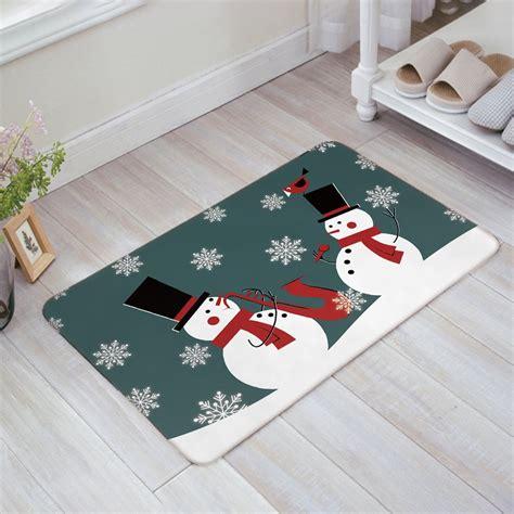 snowflake doormat snowman snowflake design doormat welcome