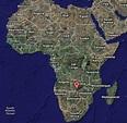 Zambezi River Map Africa