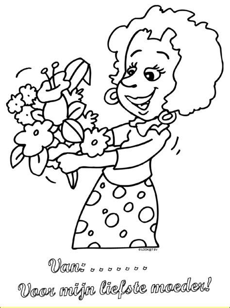 Kleurplaat Juf Valentijn by Moederdag Bloemen Moederdag Kleurplaten