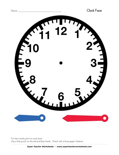 Best Photos Of Clock Face Template With Hands