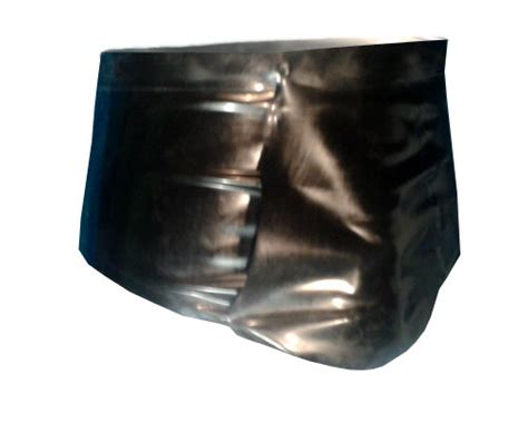 Men's Underwear With Front Pouch Latex Rubber Gummi Xs