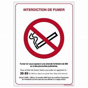 Panneau Interdiction De Fumer : panneau interdiction de fumer n0026 ~ Melissatoandfro.com Idées de Décoration